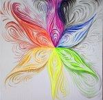 Floarea multicolora fluorescenta