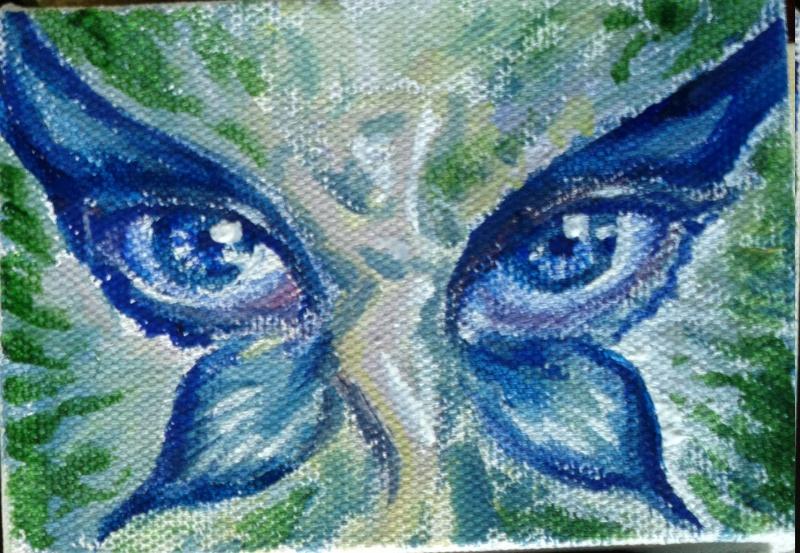 Pictura fantezie fluture cu ochi