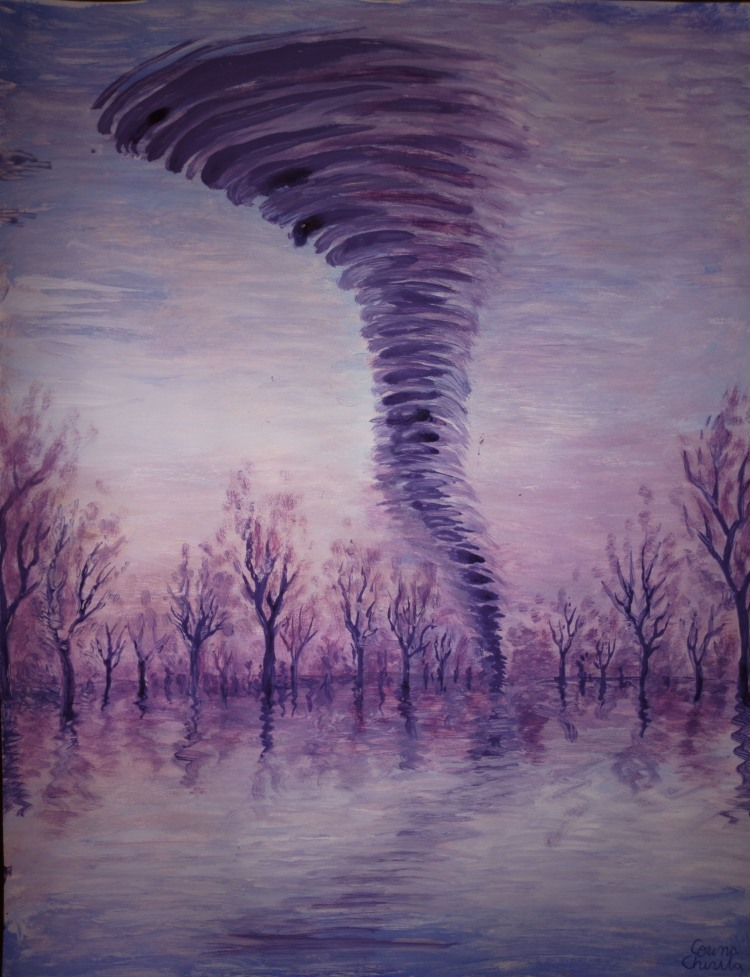 Tornada pictura - tornado painting