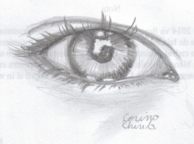 Ochi desenat in creion - Eye pencil drawing 001