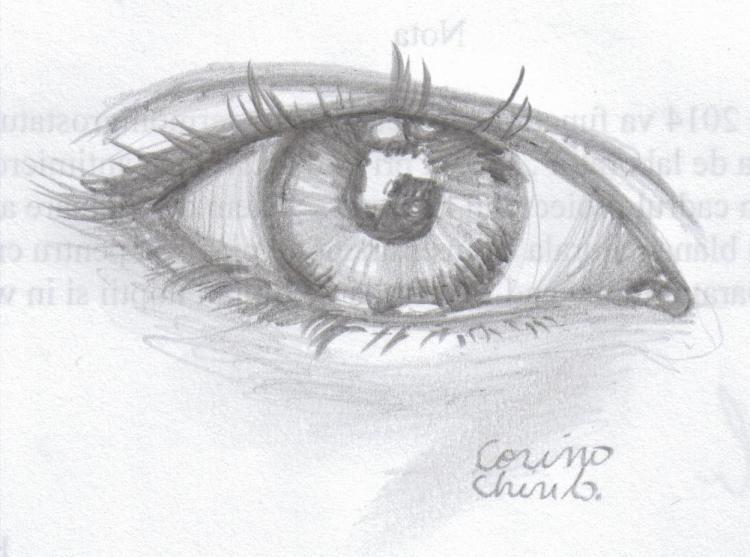 Ochi desenat in creion - Eye pencil drawing 001