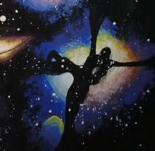 Nebuloasa, detaliu dintr-o pictura de pe vremea cand aveam 15 ani