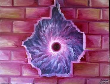 Marea gaura neagra, pictura ulei pe panza