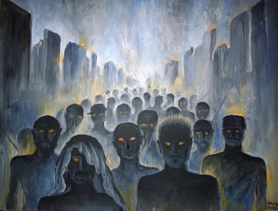 Marea invazie, pictura ulei pe panza