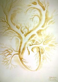 Inima pictata cu cafea