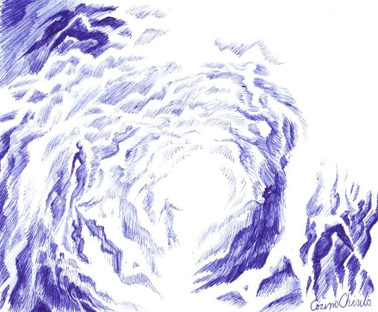 Portalul sufletelor desen in pix