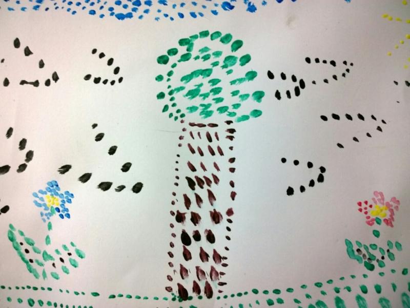 copac pictat de un copil de 7 ani