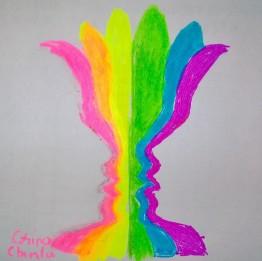 Fantana iubirii desen fluorescent