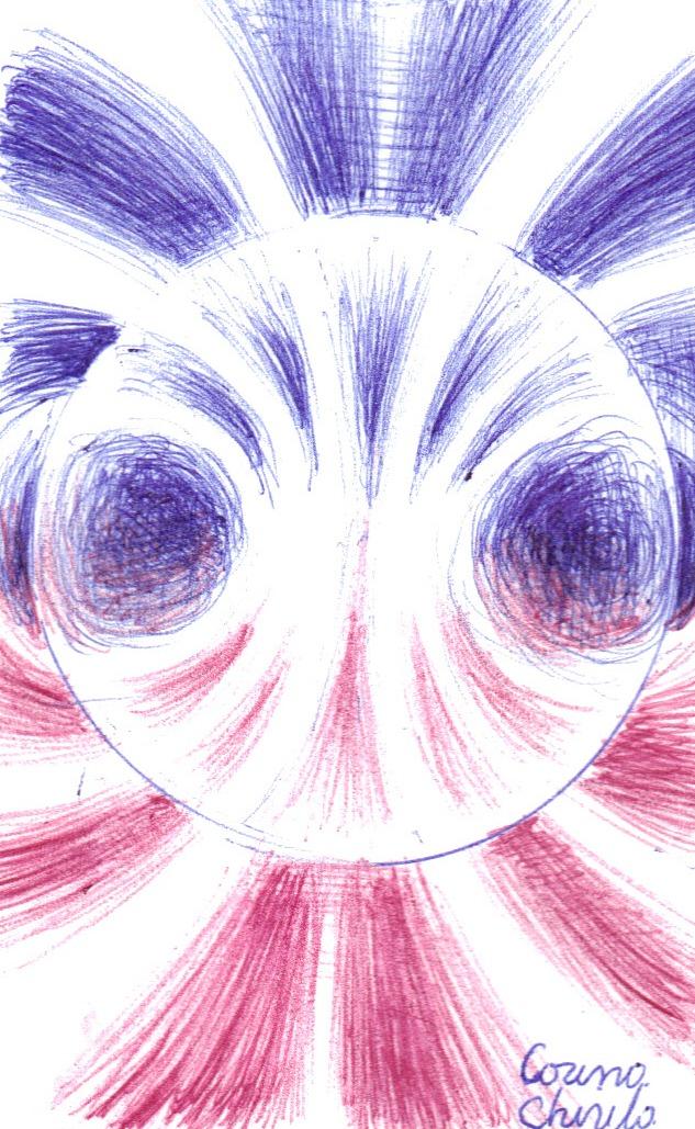 Magnetic field lines drawing - Linii de camp magnetic desen in pix