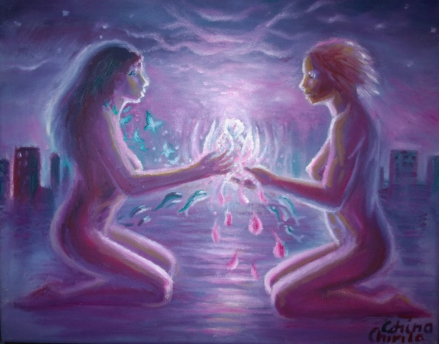 promisses-oil-on-canvas-painting-about-lesbian-love-promisiuni-pictura-ulei-pe-panza