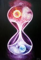 scurgerea-timpului-in-univers-pictura-ulei-pe-panza