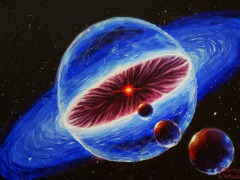 sistem-solar-in-formare-si-planete-pictura-acrilice-pe-panza-solar-system-and-planets-space-painting