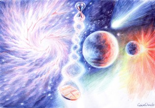 timp-spatiu-viata-in-univers-desen-time-space-life-in-the-universe-drawing