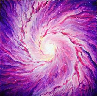 Galaxie, pictura acrilice pe panza