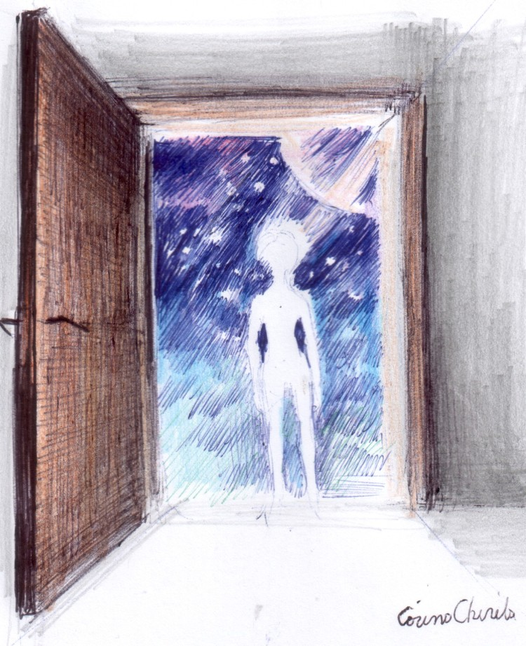 o-usa-deschisa-catre-univers-a-door-to-the-universe-drawing
