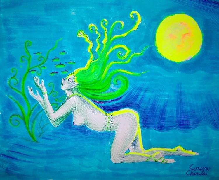fantezie-subacvatica-desen-nud-fluorescent-underwater-fantasy-sexy-nude-woman-fluorescent-drawing