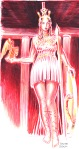 Athena partenos sau Athena zeita fecioara, desen facut cu pixul