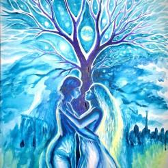 Sara pe deal, pictura inspirata din poezia lui Eminescu