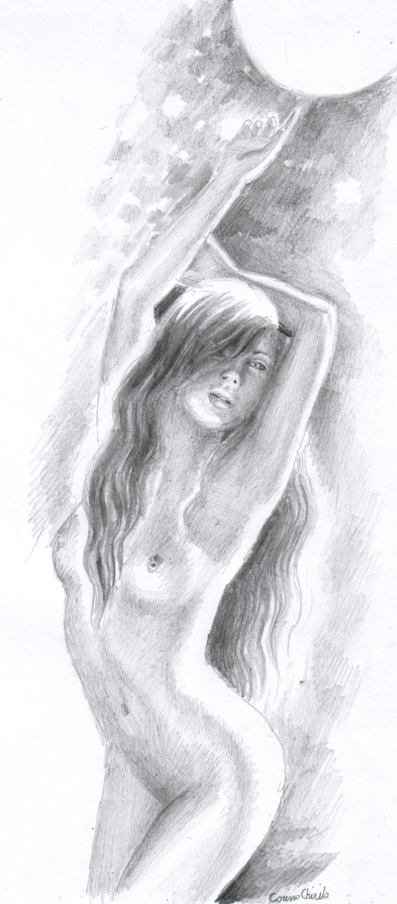 sexy-girl-in-the-moonlight-pencil-drawing