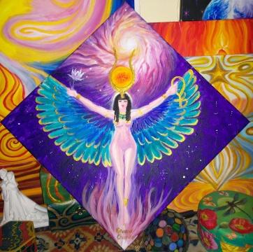 Zeita Isis, pictura