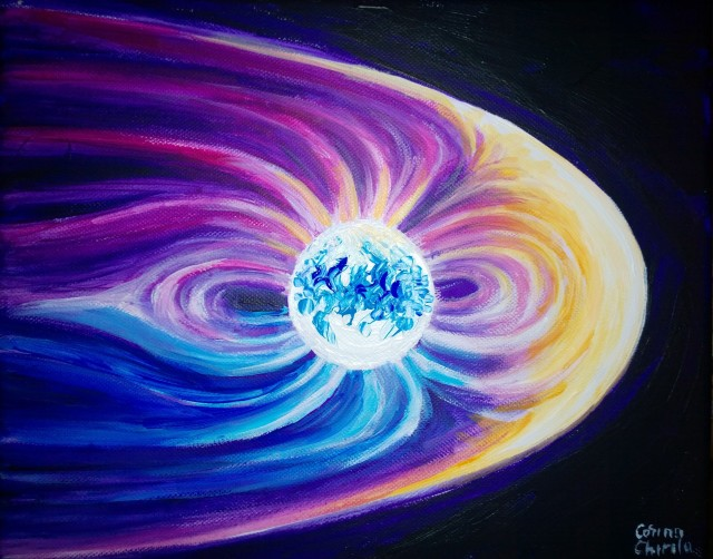 magnetosfera-pictura-magnetic-field-of-the-earth-painting
