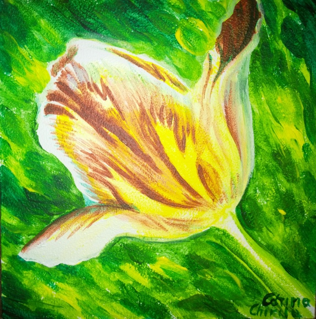 Tulip flower painting