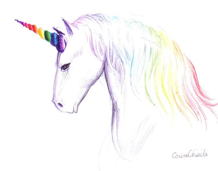 Un Cap De Unicorn Desenat Cu Pixul Desene Si Picturi De