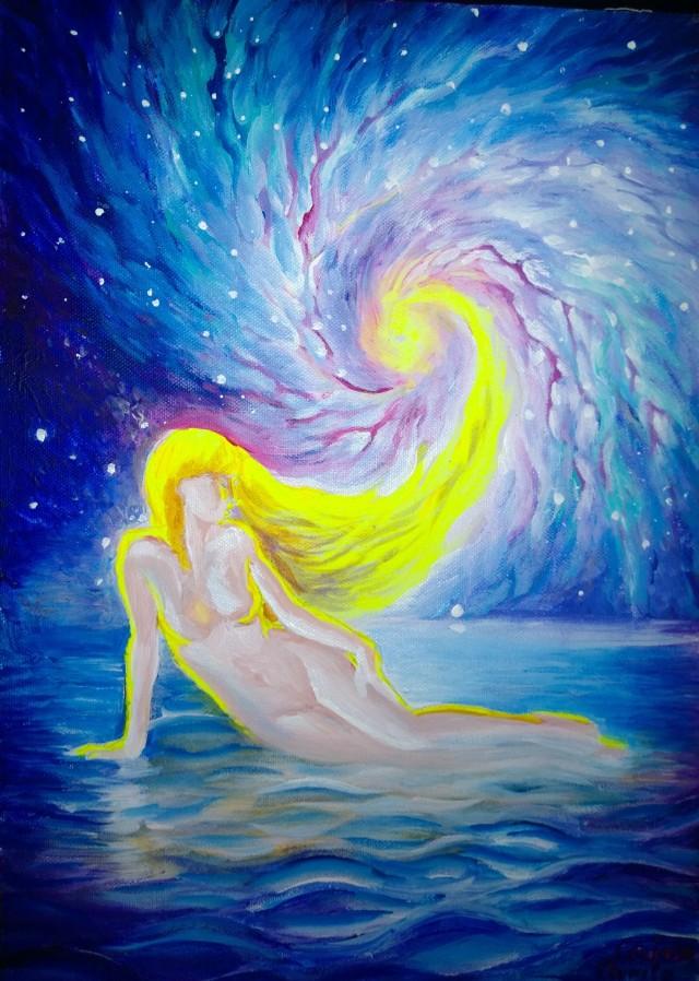 Din valurile vremii femeie intre stele si stea intre femei