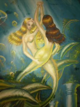 Sirene indragostite, pictura din adolescenta