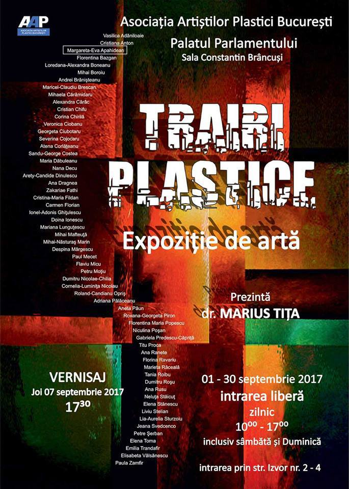 Afis trairi plastice palatul parlamentului