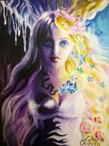 Cele doua fete ale Persefonei pictura