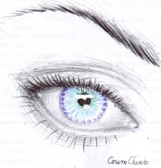 ball point pen drawing of an eye-1