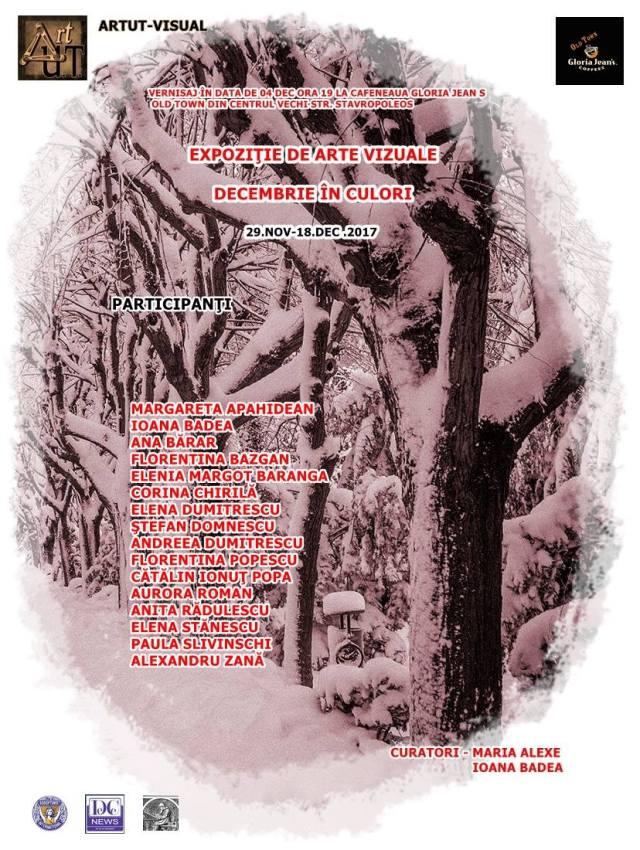 Decembrie in culori afis expozitie Gloria Jeans centrul vechi