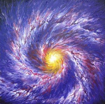 Galaxie pictata la Expo Bazar Art