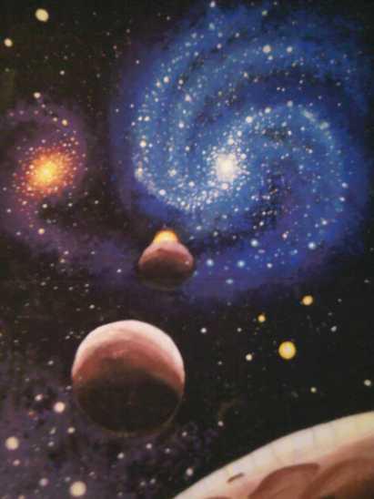 Galaxii si planete pictura 2002