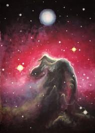 horsehead nebula painting