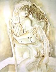 Poetele Korinna Erinna si Sappho din Grecia antica