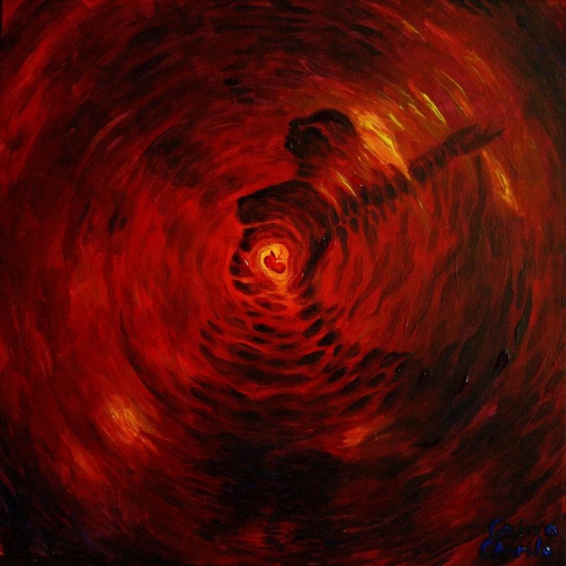 pregnancy painting - femeie insarcinata pictura
