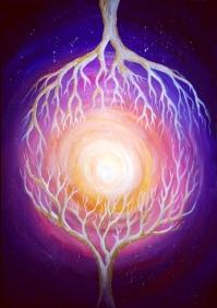 Lumina sinaptica, pictura acrilice pe panza