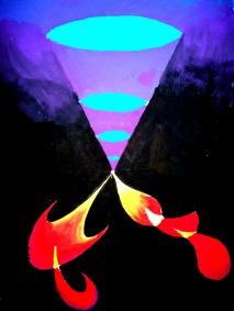 O pictura abstracta de pe vremea cand aveam 15 ani