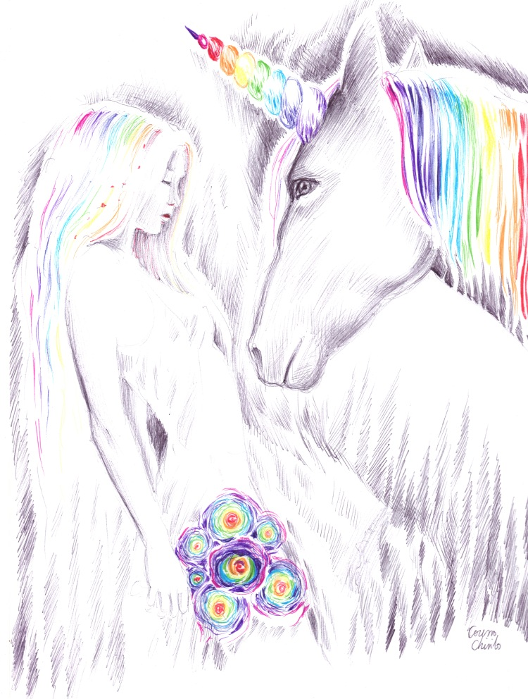 Princess and unicorn Printesa si inorogul desen.JPG