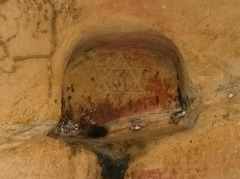 Steaua lui David - Simbol iudaic la Sinca Veche