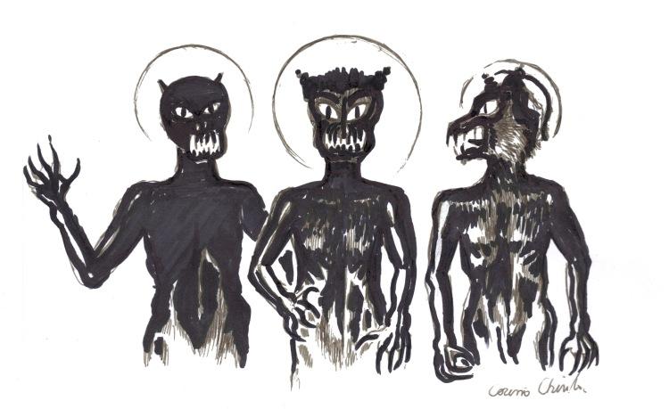 Draci din visul meu - Satan and the devils in my dream.JPG