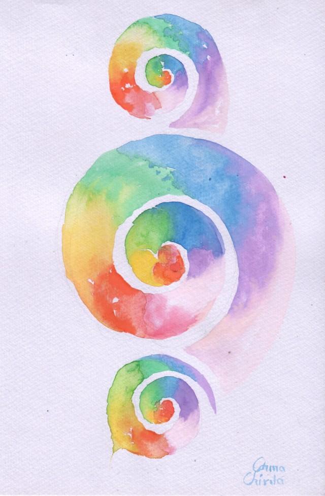 spirale pictura acuarela