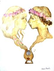 Poeta Sappho si una dintre muzele sale